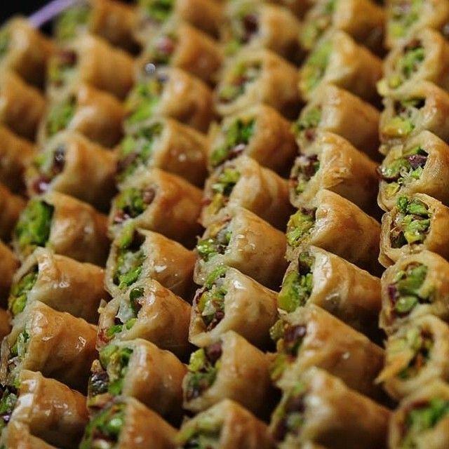 Des baklava de Damas à la pistache et noix de cajou
