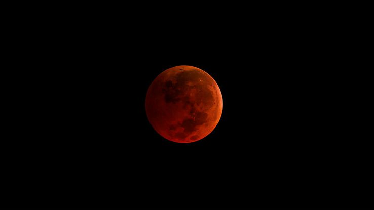 "Une ""Super Blood Moon""."