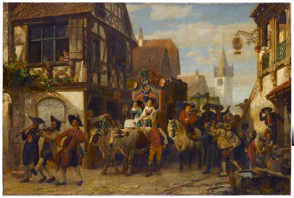 Gustave Brion, Une noce en Alsace, 1860, huile sur toile, 166 x 250 cm Staatsgalerie, Stuttgart,