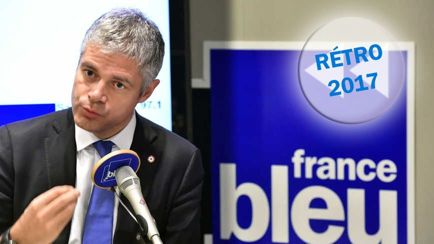 Laurent Wauquiez dans la studio de France Bleu Saint-Étienne Loire