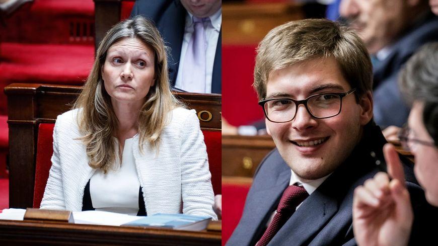 Les députés Yaël Braun-Pivet (LREM) et Robin Reda (LR)