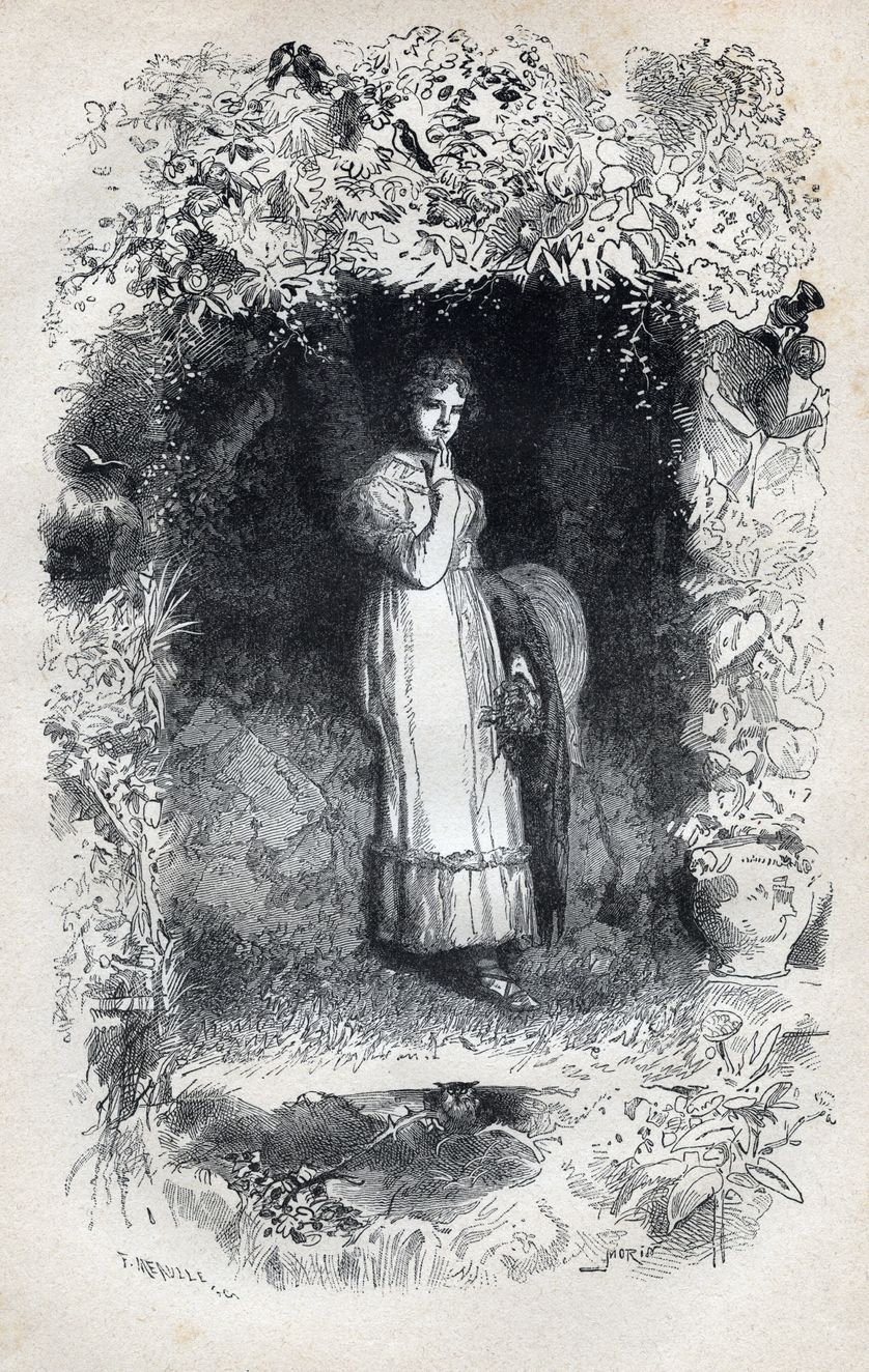 Portrait de Fantine, illustration de Gustave Brion