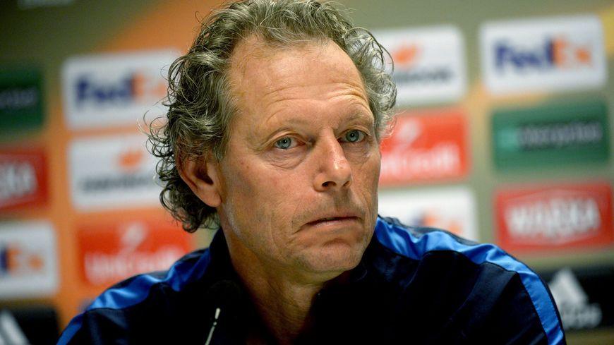 Michel Preud'homme avec le survêtement du FC Bruges, son dernier club.