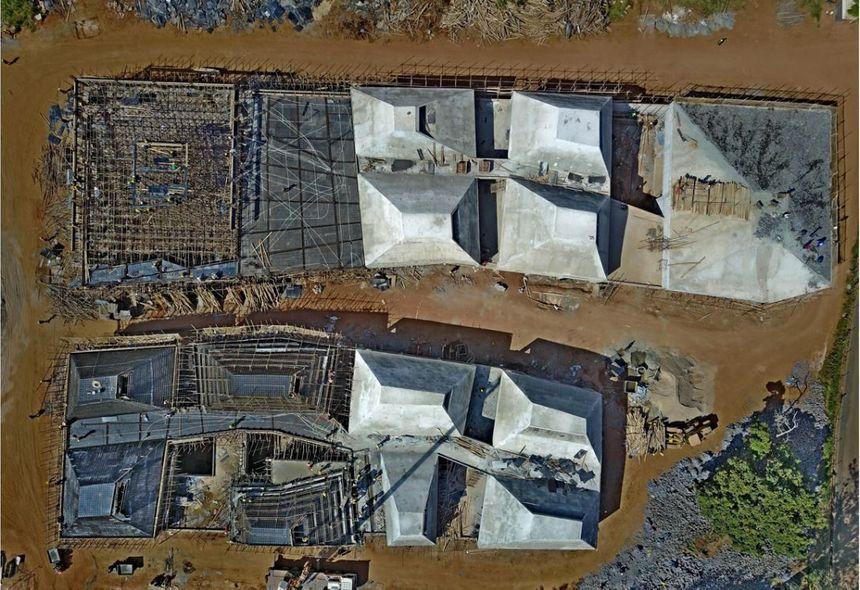 Le chantier a beaucoup progressé depuis cette photo aérienne