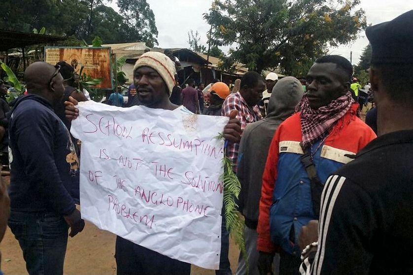 Manifestation contre la discrimination à l'encontre des anglophones du Cameroun