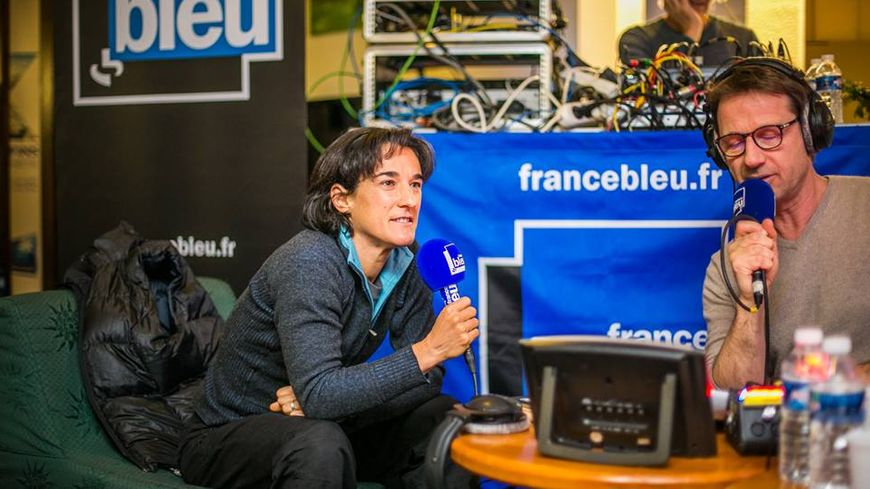 Elisabeth Revol à Autrans avec France Bleu en décembre 2017