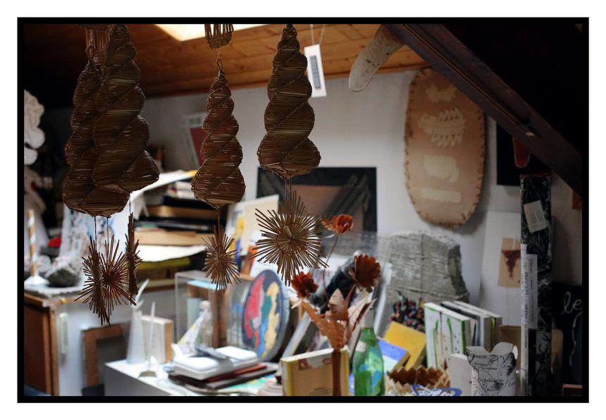 Un bureau atelier où Michel butor faisait cohabiter tous les arts - Maxppp