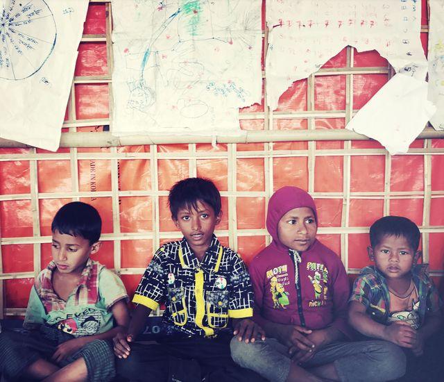 A Barma Para, où 1 réfugié sur 2 est un enfant, des espaces dédiés ont été aménagés par l'ONG Vision du monde. / Aucun(e)