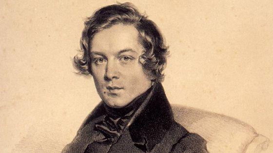 Portrait de Robert Schumann par Josef Kriehuber (1839)