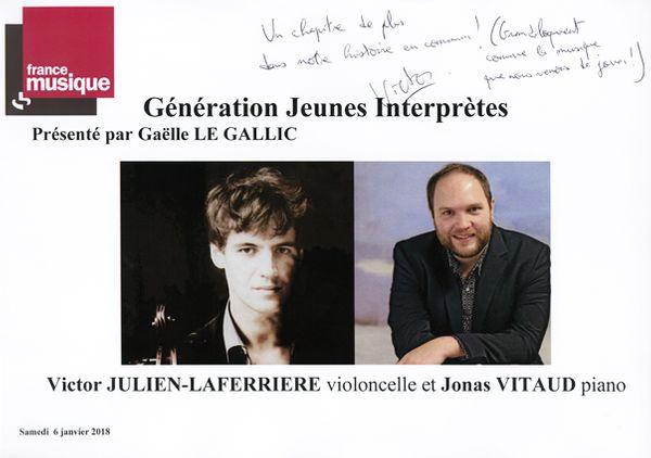 Livre d'or Victor Julien-Laferriere / Jonas Vitaud