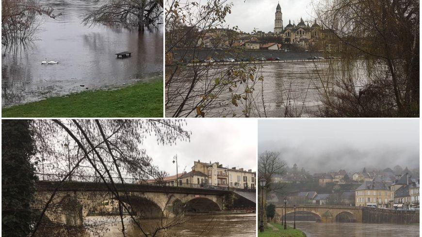 Photos de l'Isle à Périgueux, de la Dordogne à Bergerac et la Vézère à Montignac.