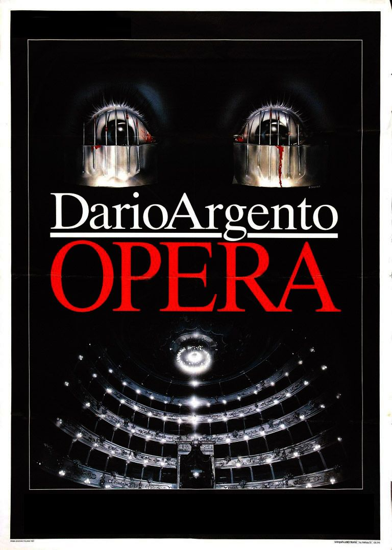 Affiche Opera, Dario Argento