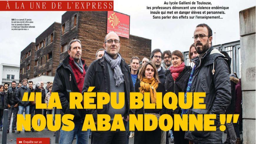 """""""Un lycée en état de guerre"""" Galliéni fait la Une du magazine L'Express cette semaine."""