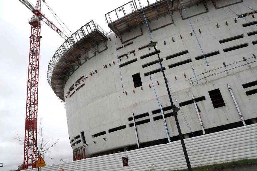 Le chantier de l'Arena à Floirac