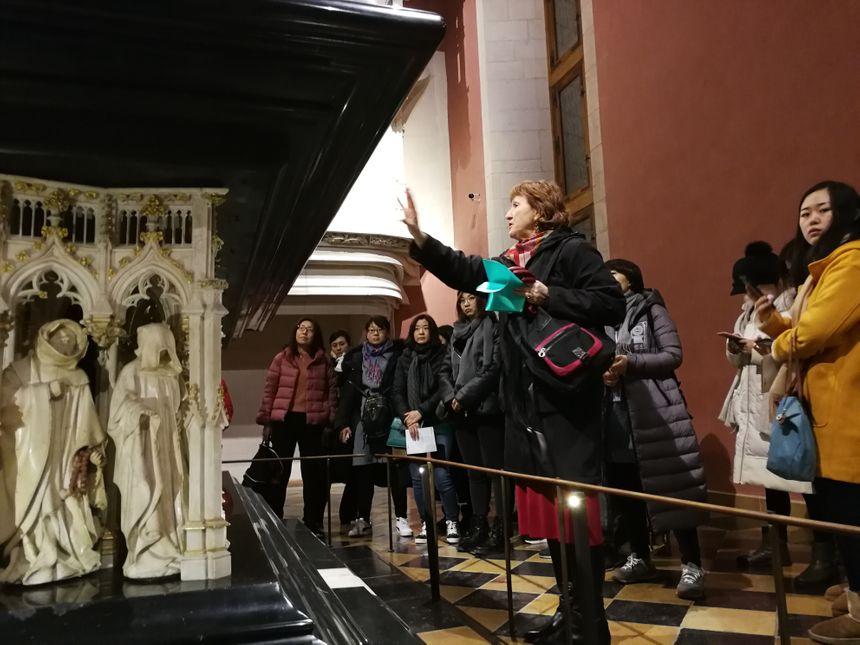 Les responsables Chinois des agences de voyage en visite guidée au Musée des Beaux Arts de Dijon