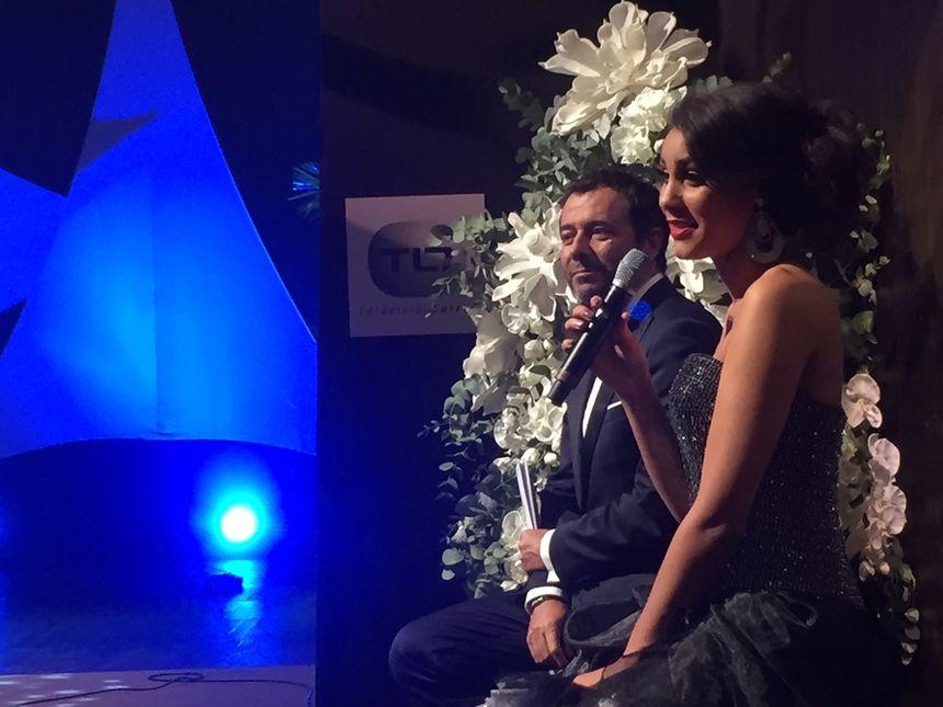 """Bernard Montiel animait cette soirée en compagnie de la """"Miss Prestige national"""" 2017."""