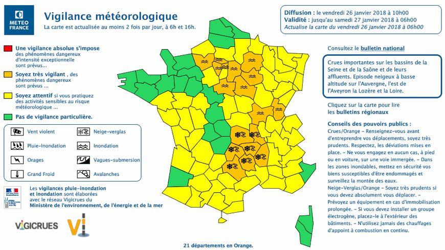 Le Loiret est placé en vigilance orange.