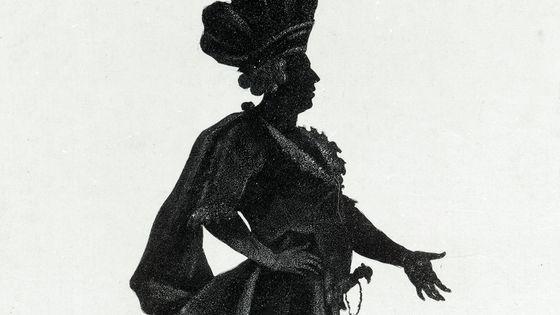 Représentation du castrat italien Marchesini (1754 - 1829), en costumes de scène