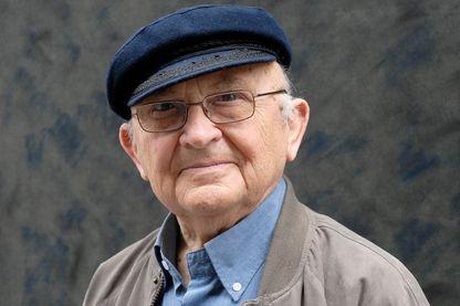 Portrait d'Aharon Appelfeld, écrivain, le 31 mai 2010 à Lyon.