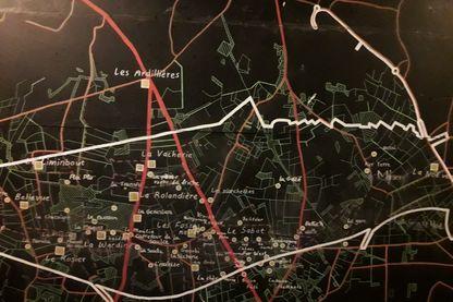 Carte de la ZAD de Notre-Dame-des-Landes