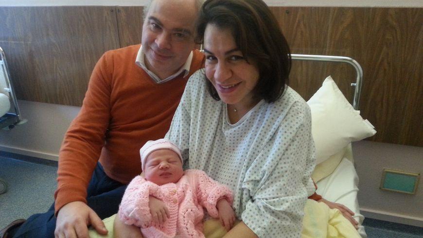 Lina, née le 1er janvier 2018 à 6h38 à Thionville (2e bébé de l'année en Moselle).