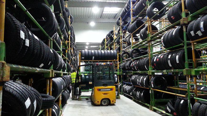 12 à 13.000 pneus sont entreposés chez Est PR à Obernai derrière des portes coupe-feu
