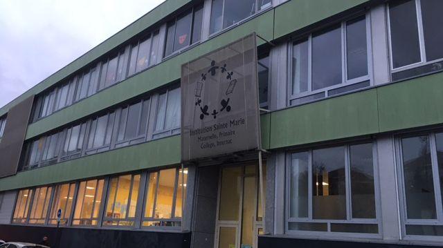 L'entrée de l'Institution Sainte Marie dans le Vieux-Lille