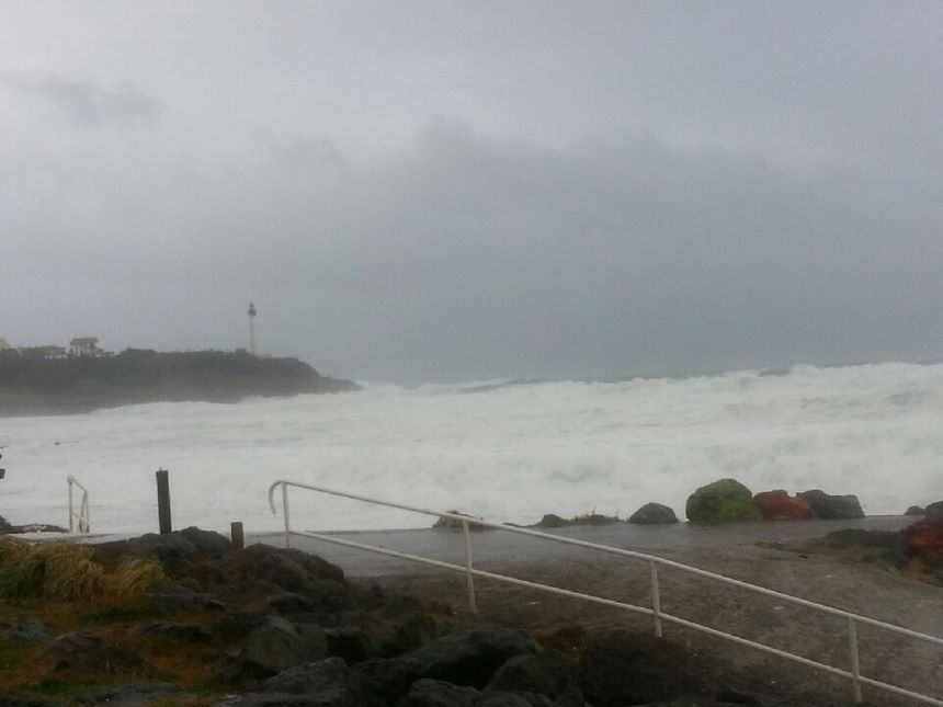 La tempête Carmen au Pays Basque ce lundi d'après-midi