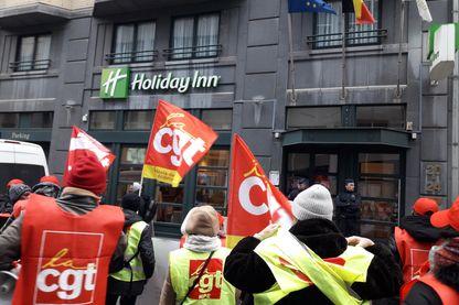 Les grévistes de l'Holiday Inn à Bruxelles