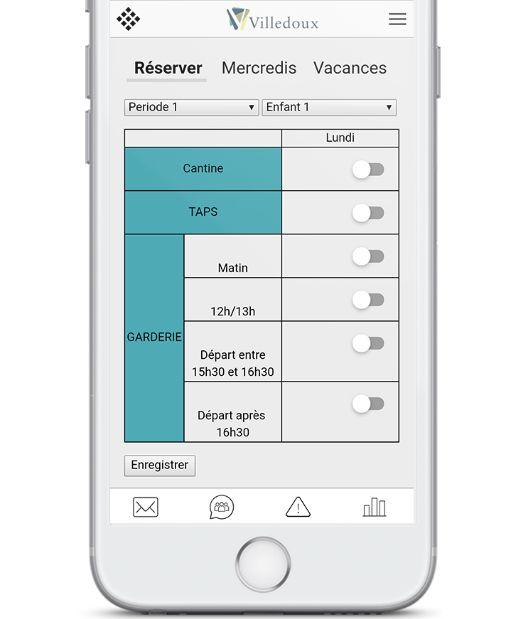 L'application permet de réserver en temps réel les activités des enfants. Capture d'écran Citybay
