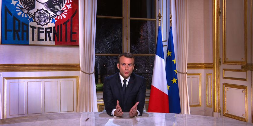 """Les premiers voeux du quinquennat d'Emmanuel Macron : """"Mais n'oubliez jamais que nous sommes la nation française."""""""