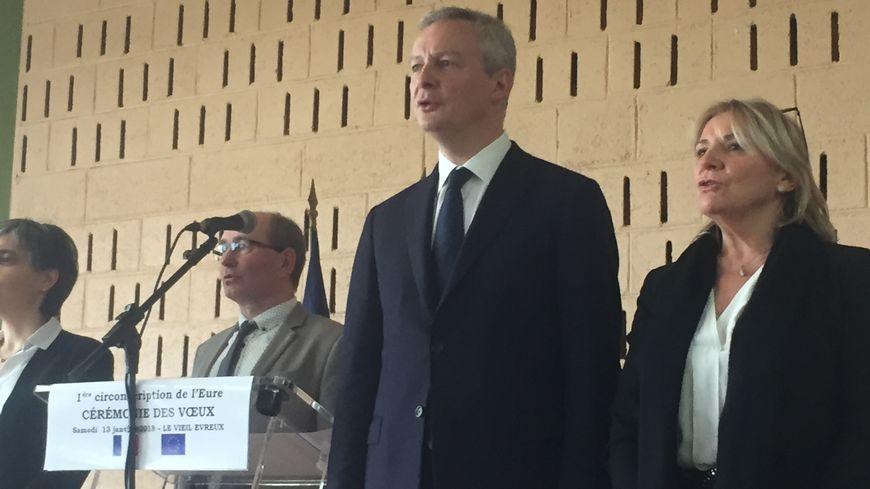L'an dernier, Bruno Le Maire avait présenté ses vœux à Evreux.