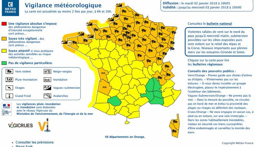 Tout le nord-est de la France est concerné par l'alerte de Météo France