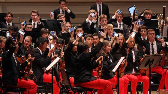 L'orchestre national des jeunes aux Etats-Unis en pleine performance au Carnegie Hall