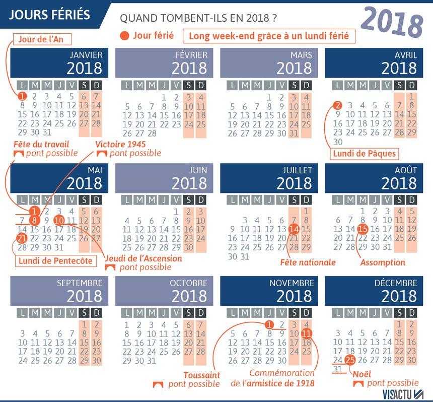 Le calendrier 2018