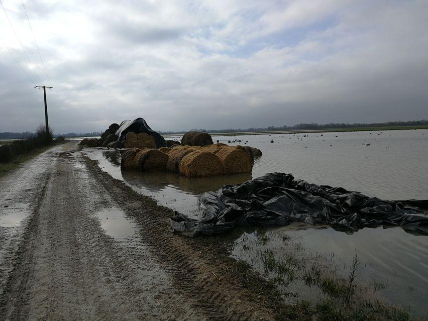 Les dégâts pourraient être très important, l'agriculteur espère que sa commune obtiendra la reconnaissance de catastrophe naturelle