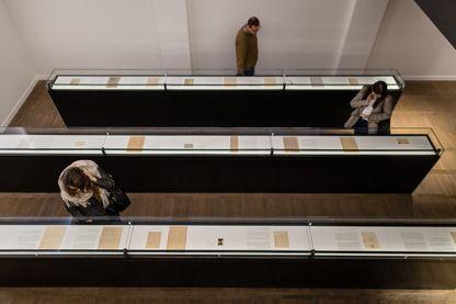 Les archives du Ghetto de Varsovie dans l'exposition permanente What We Were Unable To Shout Out To The World inaugurée en novembre 2017 à l'Institut historique juif