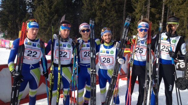 Le podium du 25km hommes de cette envolée nordique 2018