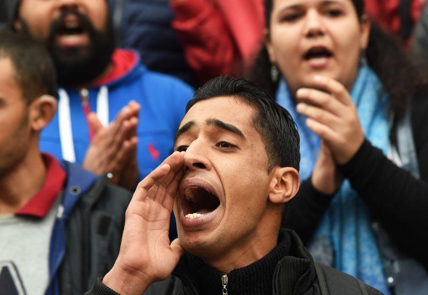 Manifestation du 9 janvier à Tunis, des milliers de personnes ont protesté contre la vie chère.