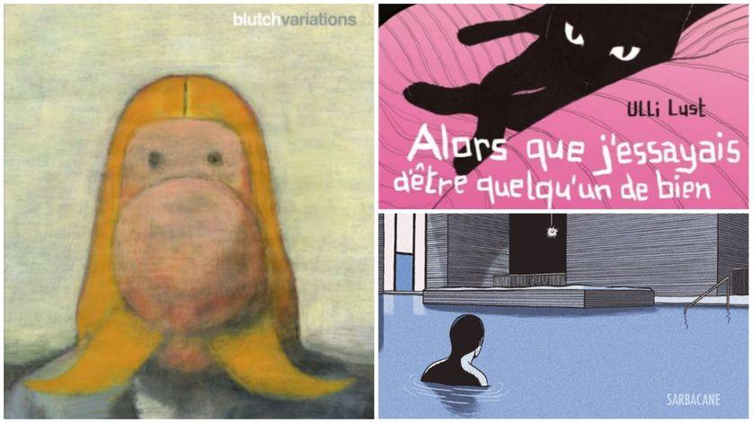 """Le top 3 de Tewfik Hakem : """"Variations"""" de Blutch, """"Alors que j'essayais d'être quelqu'un de bien"""" d'Ulli Lust et """"L'Aimant"""" de Lucas Harari."""