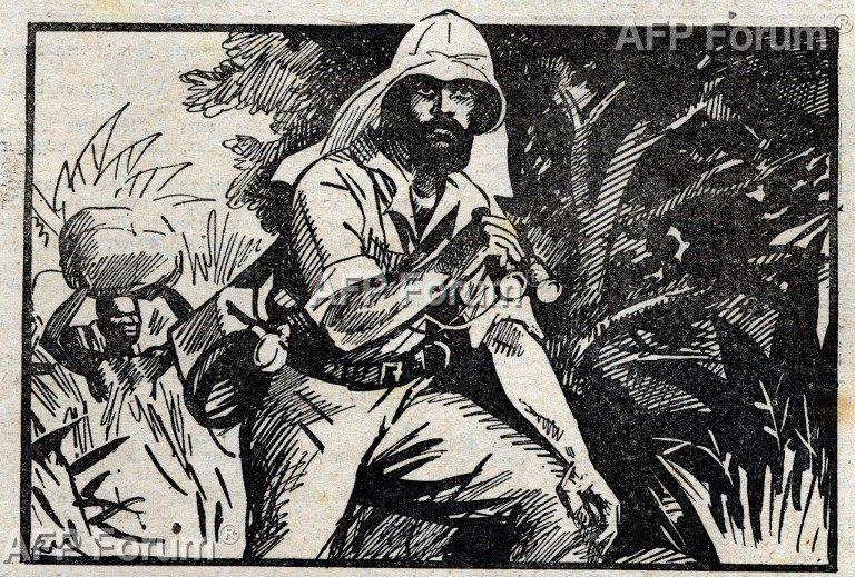 Pietro Paolo Savorgnan di Brazza (1852-1905), explorateur français qui explora la rive droite du fleuve Congo ouvrant la voie à la colonisation francaise en Afrique