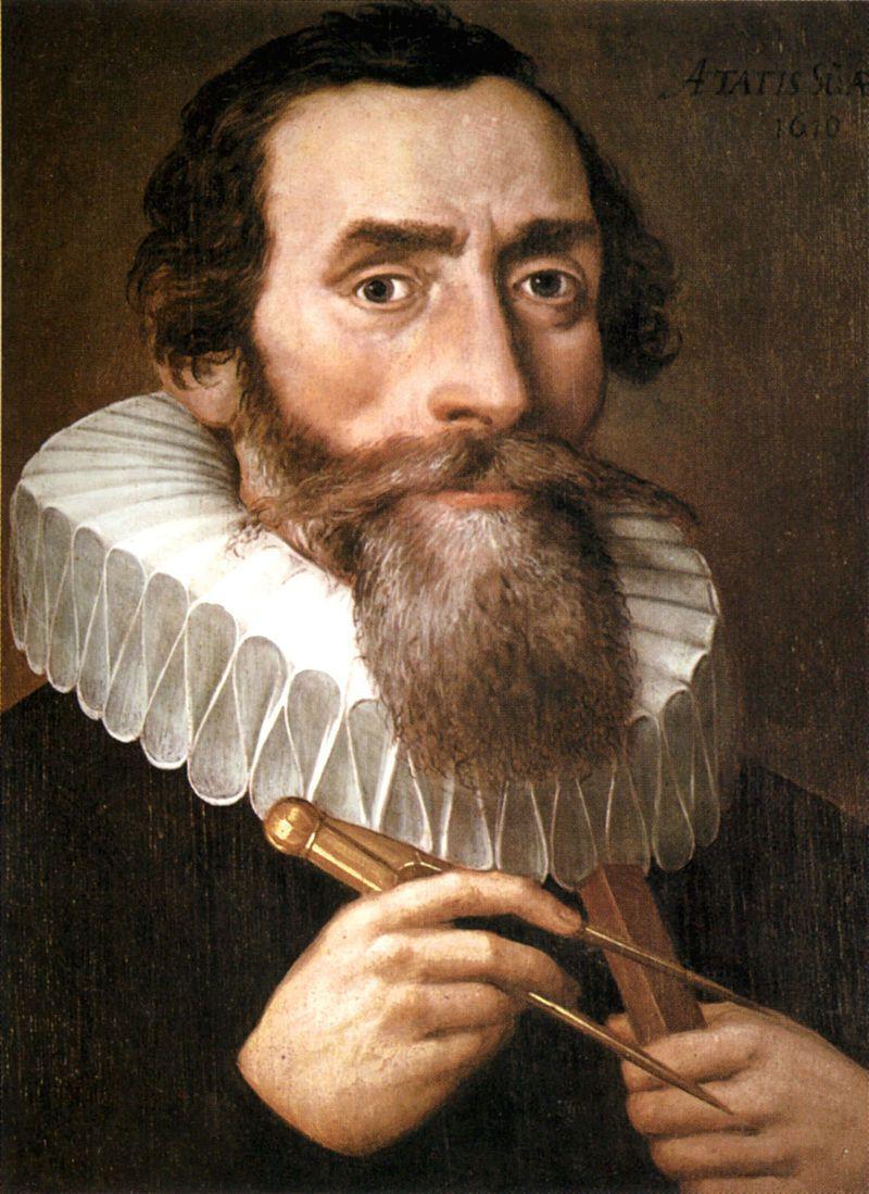 Copie d'un portrait perdu de Johannes Kepler, peint en 1610, qui était conservé chez les Bénédictins de Krems.