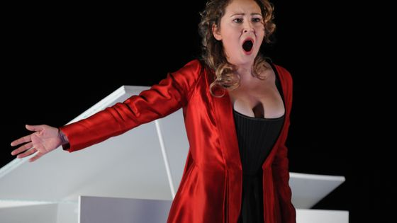 La mezzo-soprano Karine Deshayes, lauréate de la dernière édition du concours Voix Nouvelles en 2002