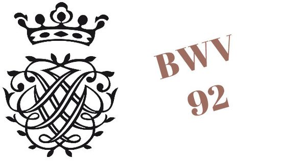 Monogramme de Bach / Cantate BWV 92