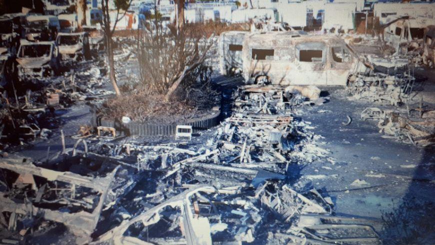 Les dégâts au lendemain du sinistre (droits : Police Nationale)