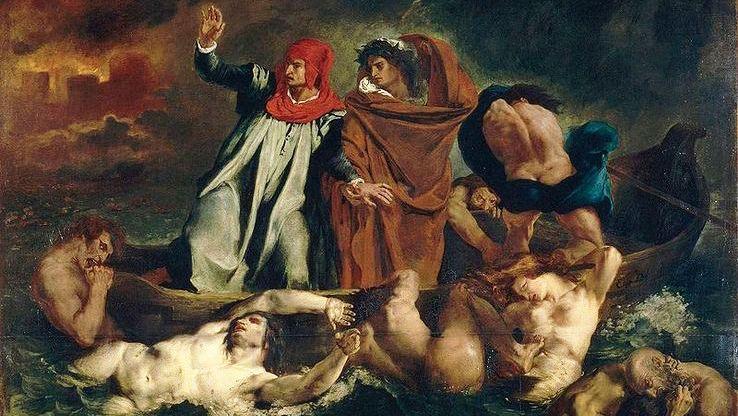 Dante et Virgile aux enfers par Eugène Delacroix