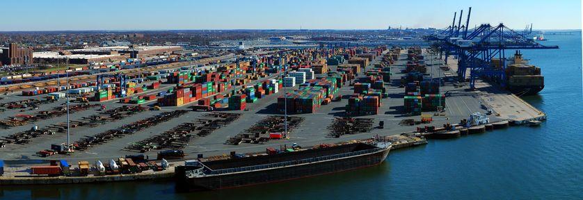 Le Seagirt Terminal du port de Baltimore, où se déroule l'intrigue de la saison 2 de la série.