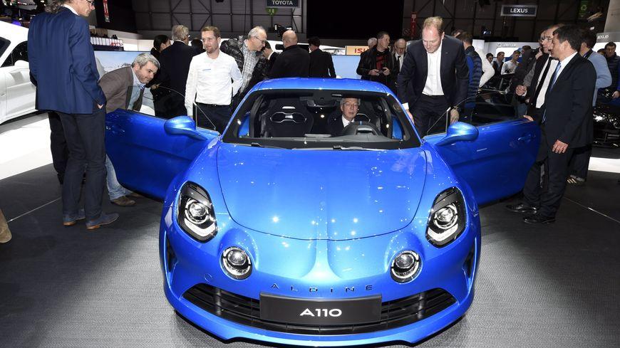 L'Alpine A110 au salon de Genève en mars 2017.