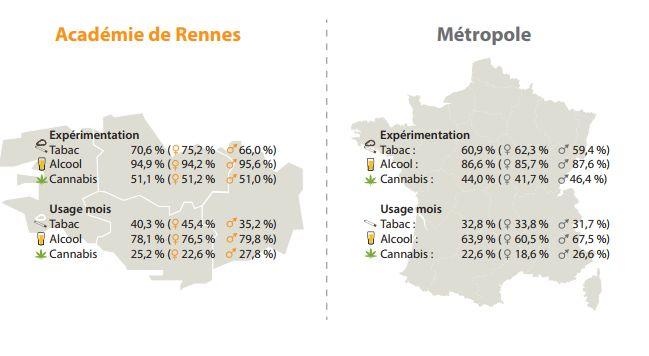 Les consommations d'alcool, tabac et cannabis / rapport Observatoire régional de santé - Aucun(e)