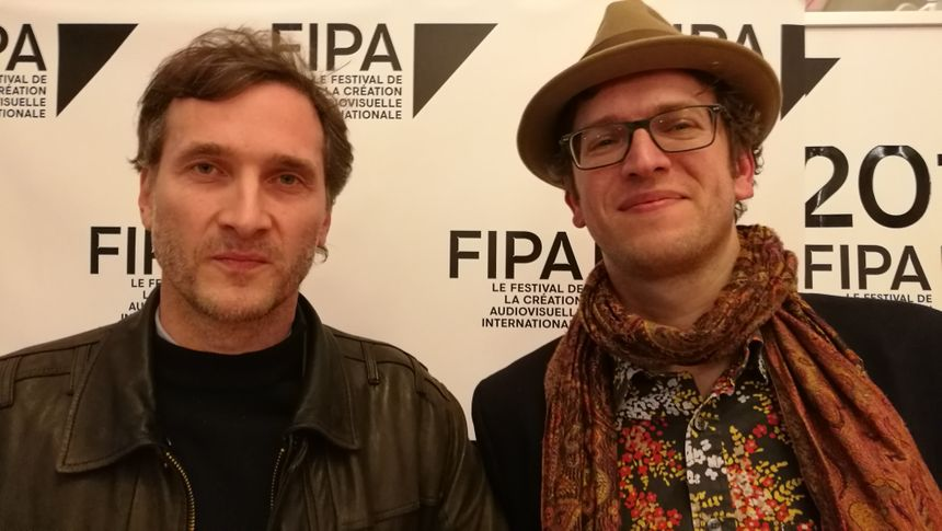 """Les deux réalisateurs de """"En équilibre"""" Antarès Bassis (à droite) et Pascal Auffray"""